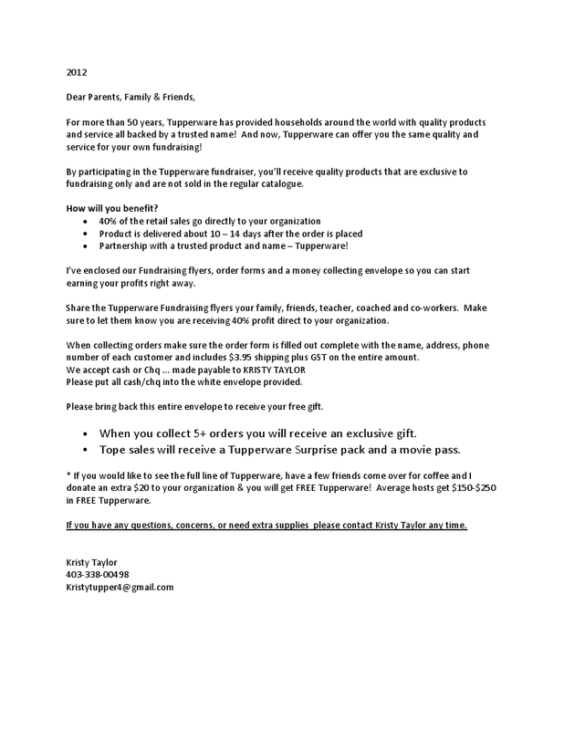 picture - Fundraiser Cover Letter